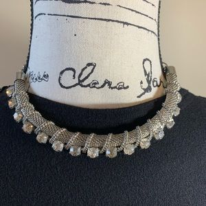 Zara Silver Tone with Crystal Choker